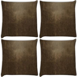 Snoogg Pack Of 4 Concrete Texture Abstract Digitally Printed Cushion Cover Pillow 10 x 10 Inch