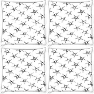 Snoogg Pack Of 4 Plenty Of Stars Digitally Printed Cushion Cover Pillow 10 x 10 Inch