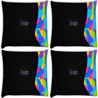 Snoogg Pack Of 4 Design Multicolors Digitally Printed Cushion Cover Pillow 10 x 10 Inch