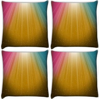 Snoogg Pack Of 4 Multicolor Background Digitally Printed Cushion Cover Pillow 10 x 10 Inch