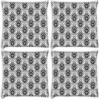Snoogg Pack Of 4 Abstract Pattern Brown Digitally Printed Cushion Cover Pillow 10 x 10 Inch