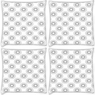 Snoogg Pack Of 4 Small Chakras Digitally Printed Cushion Cover Pillow 10 x 10 Inch