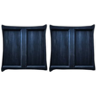 Snoogg Pack Of 2 Black Door Digitally Printed Cushion Cover Pillow 10 x 10 Inch