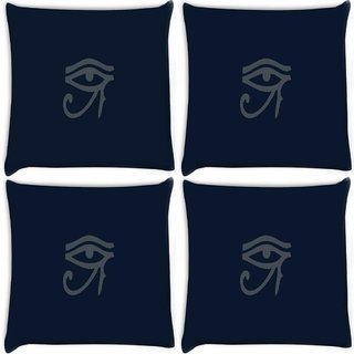 Snoogg Pack Of 4 Oudjat Dark Digitally Printed Cushion Cover Pillow 10 x 10 Inch