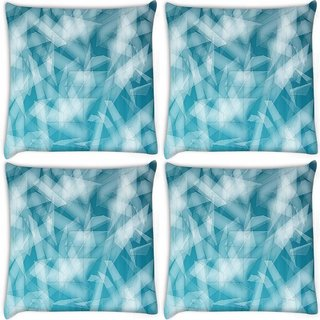 Snoogg Pack Of 4 Pattern Shapes Digitally Printed Cushion Cover Pillow 10 x 10 Inch