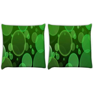 Snoogg Pack Of 2 Green Surface Digitally Printed Cushion Cover Pillow 10 x 10 Inch