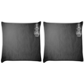 Snoogg Pack Of 2 Combined Religions Digitally Printed Cushion Cover Pillow 10 x 10 Inch