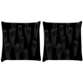 Snoogg Pack Of 2 Cool Design Digitally Printed Cushion Cover Pillow 10 x 10 Inch