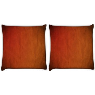 Snoogg Pack Of 2 Brown Background Digitally Printed Cushion Cover Pillow 10 x 10 Inch
