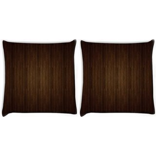 Snoogg Pack Of 2 Brown Wall Digitally Printed Cushion Cover Pillow 10 x 10 Inch
