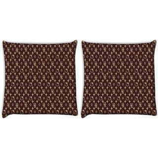 Snoogg Pack Of 2 Multiple Cat Art Design Digitally Printed Cushion Cover Pillow 10 x 10 Inch