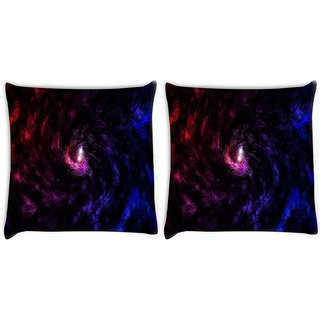 Snoogg Pack Of 2 Deep Abstract Widescreen Digitally Printed Cushion Cover Pillow 10 x 10 Inch