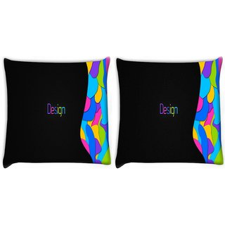 Snoogg Pack Of 2 Design Multicolors Digitally Printed Cushion Cover Pillow 10 x 10 Inch