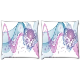 Snoogg Pack Of 2 Design Vector Digitally Printed Cushion Cover Pillow 10 x 10 Inch