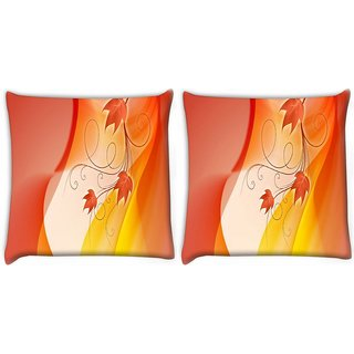 Snoogg Pack Of 2 Design Widescreen Hdtv Digitally Printed Cushion Cover Pillow 10 x 10 Inch