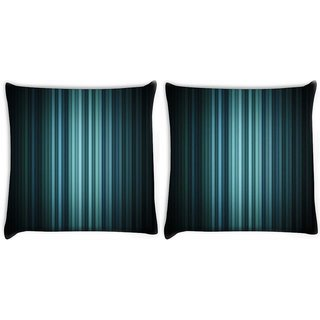 Snoogg Pack Of 2 Multicolor Design In Black Digitally Printed Cushion Cover Pillow 10 x 10 Inch