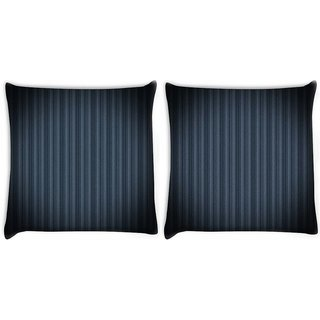 Snoogg Pack Of 2 Black Background Design Digitally Printed Cushion Cover Pillow 10 x 10 Inch