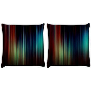 Snoogg Pack Of 2 Mixed Color Design Digitally Printed Cushion Cover Pillow 10 x 10 Inch