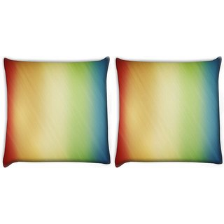 Snoogg Pack Of 2 Woollen Multicolor Design Digitally Printed Cushion Cover Pillow 10 x 10 Inch