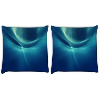 Snoogg Pack Of 2 Abstract Pattern Design Digitally Printed Cushion Cover Pillow 10 x 10 Inch