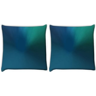 Snoogg Pack Of 2 Abstract Design Pattern Digitally Printed Cushion Cover Pillow 10 x 10 Inch