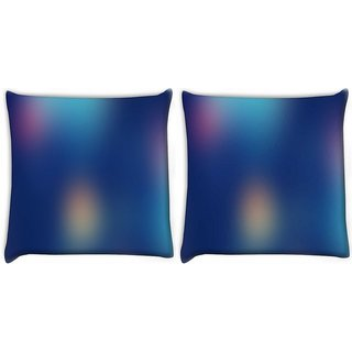 Snoogg Pack Of 2 Lights At Nigth Digitally Printed Cushion Cover Pillow 10 x 10 Inch