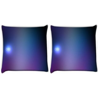 Snoogg Pack Of 2 One Digitally Printed Cushion Cover Pillow 10 x 10 Inch
