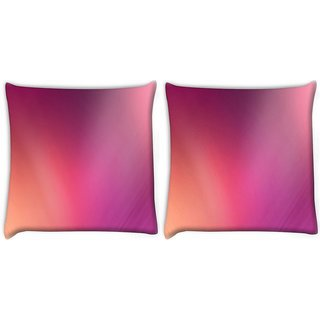 Snoogg Pack Of 2 Mixed Lite Color Pattern Design Digitally Printed Cushion Cover Pillow 10 x 10 Inch