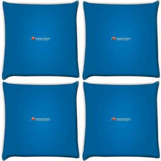 Snoogg Pack Of 4 I Love Minimalism Digitally Printed Cushion Cover Pillow 10 x 10 Inch