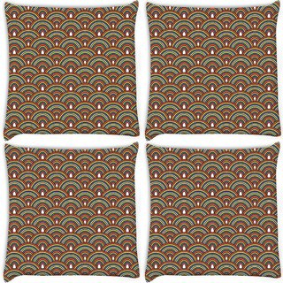 Snoogg Pack Of 4 Abstract Multicolor Digitally Printed Cushion Cover Pillow 10 x 10 Inch