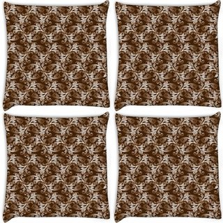 Snoogg Pack Of 4 Lite Pattern Digitally Printed Cushion Cover Pillow 10 x 10 Inch