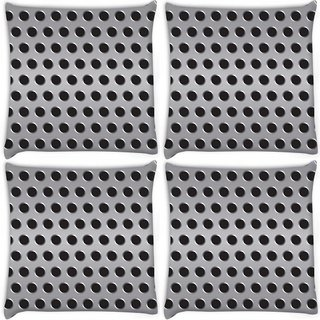 Snoogg Pack Of 4 Grey Holes Digitally Printed Cushion Cover Pillow 10 x 10 Inch