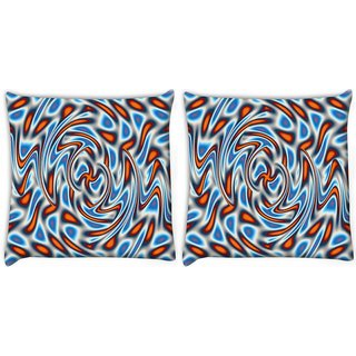 Snoogg Pack Of 2 Abstract Patterned Design Digitally Printed Cushion Cover Pillow 10 x 10 Inch