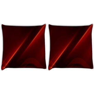 Snoogg Pack Of 2 Abstract Background Digitally Printed Cushion Cover Pillow 10 x 10 Inch
