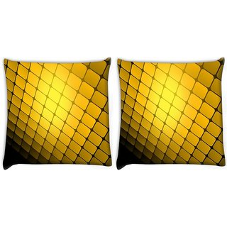 Snoogg Pack Of 2 Abstract Colour Background Digitally Printed Cushion Cover Pillow 10 x 10 Inch