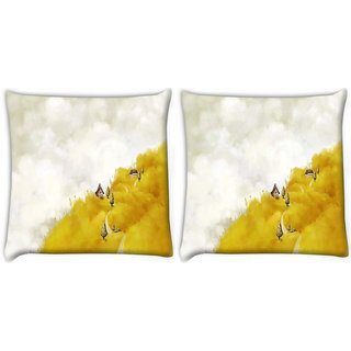 Snoogg Pack Of 2 Dream World Art Digitally Printed Cushion Cover Pillow 10 x 10 Inch