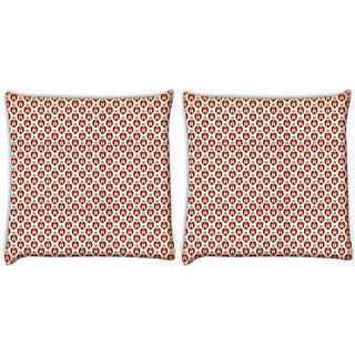 Snoogg Pack Of 2 Back To School Digitally Printed Cushion Cover Pillow 10 x 10 Inch