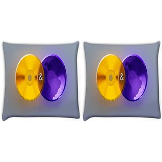 Snoogg Pack Of 2 Dvd Web Digitally Printed Cushion Cover Pillow 10 x 10 Inch