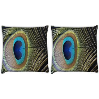 Snoogg Pack Of 2 Pero Pavlina Digitally Printed Cushion Cover Pillow 10 x 10 Inch