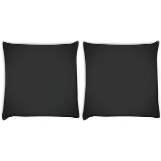 Snoogg Pack Of 2 Pixel Art Pattern Gray Digitally Printed Cushion Cover Pillow 10 x 10 Inch