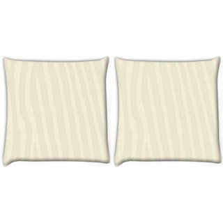 Snoogg Pack Of 2 Popup Digitally Printed Cushion Cover Pillow 10 x 10 Inch