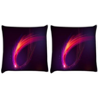 Snoogg Pack Of 2 Multicolor Sparkling Rays Digitally Printed Cushion Cover Pillow 10 x 10 Inch