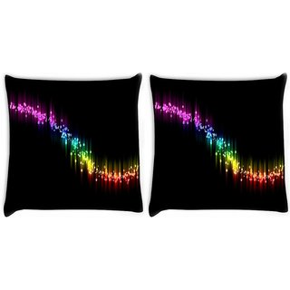 Snoogg Pack Of 2 Multicolor Sparkling Small Spots Digitally Printed Cushion Cover Pillow 10 x 10 Inch