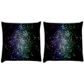 Snoogg Pack Of 2 Multicolor Honey Bee Pattern Digitally Printed Cushion Cover Pillow 10 x 10 Inch