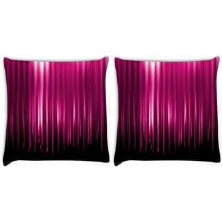 Snoogg Pack Of 2 Pink Rays Falling Digitally Printed Cushion Cover Pillow 10 x 10 Inch