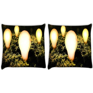 Snoogg Pack Of 2 Abstract Creative Digitally Printed Cushion Cover Pillow 10 x 10 Inch