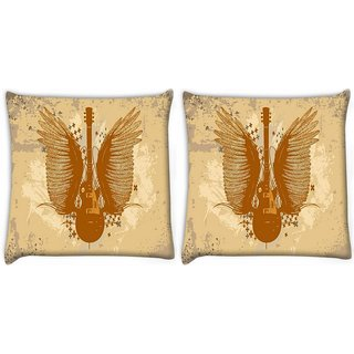 Snoogg Pack Of 2 Mechanism Digitally Printed Cushion Cover Pillow 10 x 10 Inch