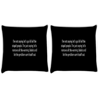 Snoogg Pack Of 2 Multi Patterned Design Digitally Printed Cushion Cover Pillow 10 x 10 Inch