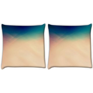 Snoogg Pack Of 2 Retro Colors Digitally Printed Cushion Cover Pillow 10 x 10 Inch