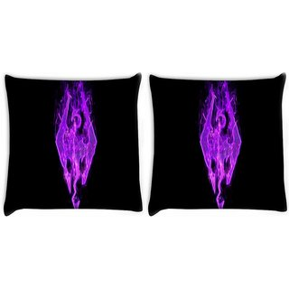 Snoogg Pack Of 2 Skyrim Digitally Printed Cushion Cover Pillow 10 x 10 Inch